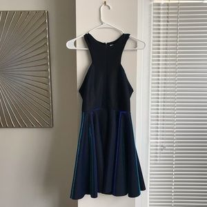 Urban Outfitters Metallic Blue Mini Party Dress